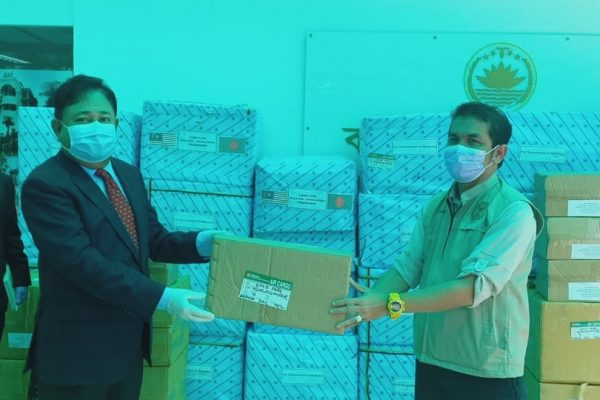 Handing over of the state-to-state donation items to Malaysian Government